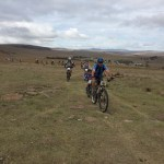 Mountain bikers in action during the Thomas River MTB Challenge
