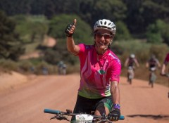 A rider showing positive signs during stage three of the Wines2Whales Chardonnay. Photo: Greg Beadle