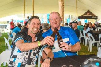Sanlam MTB Invitational stage one riders & beer