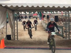 Riders crossed underneath this tent to mark their finish of the Desert Dash. Photo: Desert Dash/Facebook