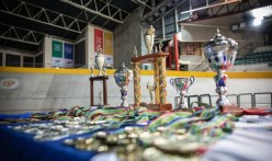 An image of the medals and trophies at the SA National Track Championships in Cape Town this week. Photo: Owen Lloyd