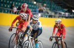 Youth riders in action yesterday at the SA National Track Championships. Photo: Owen Lloyd