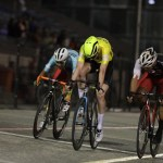 One of the English riders (yellow) pictured winning one of the events at the Paarl 6 yesterday. Photo: Owen Lloyd