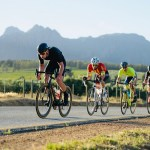 Riders in action during the Stellenbosch Cycle Tour today. Photo: Craig Kolesky