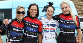 Kim le Court, Lynette Burger, Carla Oberholzer and Heidi Dalton of Demacon MaxWax