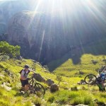 Mountain bikers pushing their bikes during last year's X-Berg Challenge