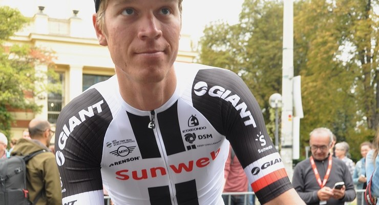 Team Sunweb's Cees Bol (pictured) claimed his first professional victory when he came up trumps in the 195.6km Nokere Koerse in Belgium today. Photo: Photo credits