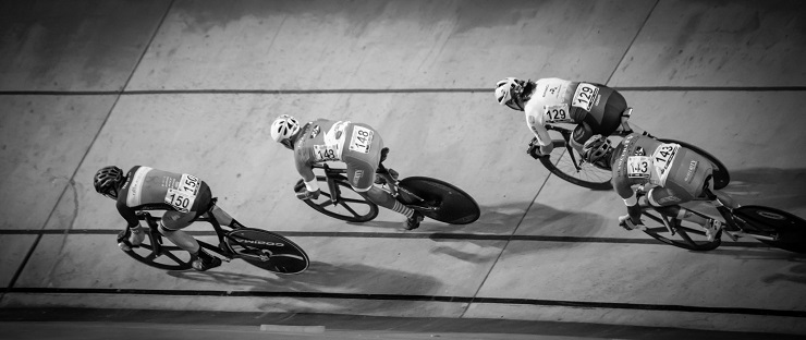 Cyclists in action during the SA National Track Championships