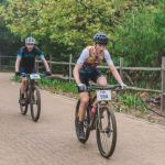 Hennie Roux (front) and Waylon Woolcock stage one Winelands Encounter
