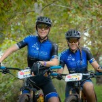 Sarah Hill (right) and Theresa Ralph hope to defend their title in the women's race at joBerg2c