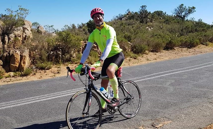 David Kleynhans recently completed his first attempt at cycling the height of Mount Everest