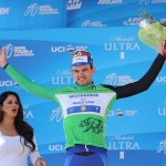 Kasper Asgreen in the green jersey after stage two of the 2019 Tour of California