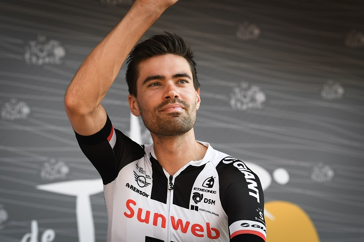 Tom Dumoulin, pictured ahead of stage 16 of last year's Tour de France
