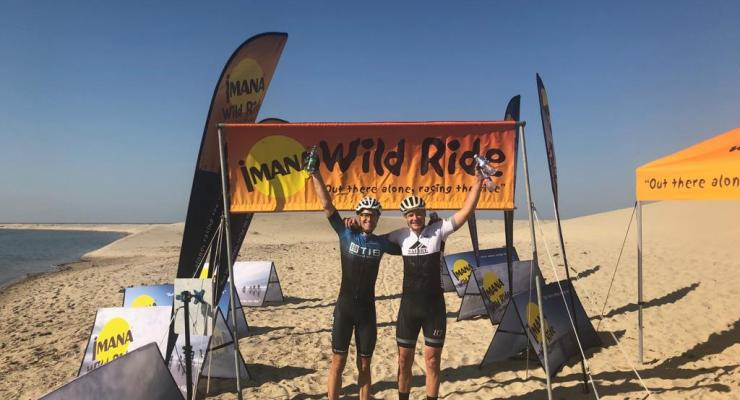 Defending champions Andrew Hill (left) and Warren Price won this year's Wild Ride title