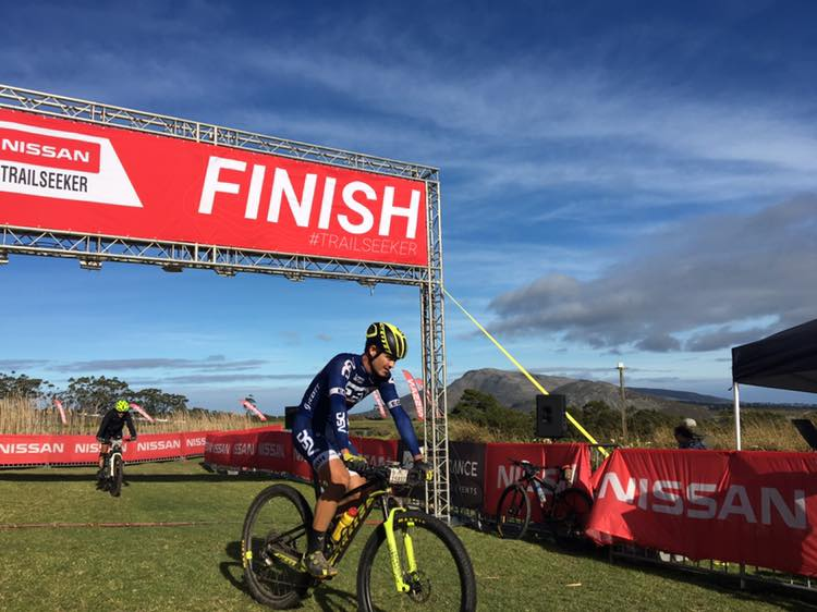 Arno du Toit won the men's race at the third event of the Trailseeker Western Cape series