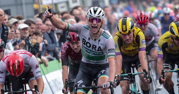 Sam Bennett won stage one of the BinckBank Tour
