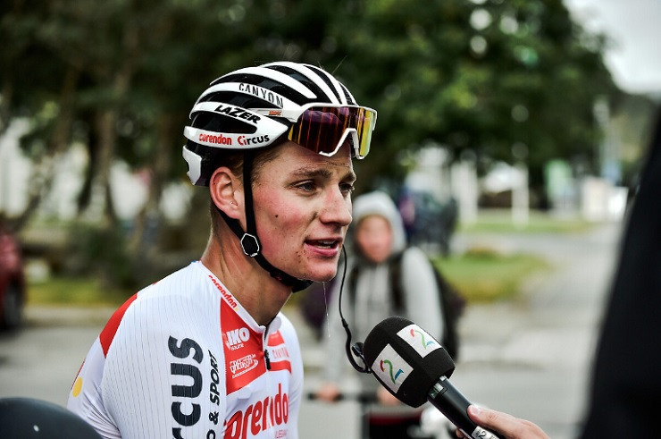Mathieu van der Poel won stage four of the Tour of Britain