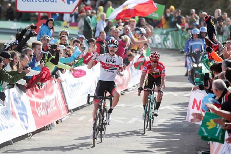 Tadej Pogacar won stage 13 of the Vuelta a España
