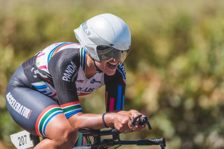 National time-trial champion Liezel Jordaan received Western Province road cycling colours