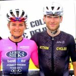 Anriette Schoeman and Brad Gouveris won the road race which formed part of the Festival of Cycling