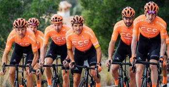 The CCC Team, which includes Olympic road race champion Greg van Avermaet. Photo: Supplied