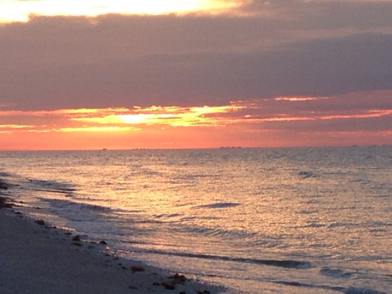 Sunset at Island Inn, Sanibel Island, FL
