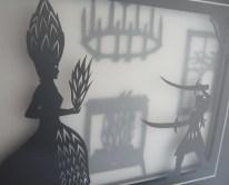 Frau Trude papercut framed (detail)