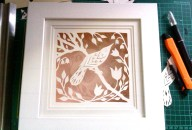 Bird in Spring in box frame