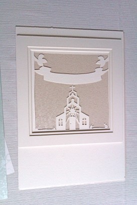 Papercut with cream applique background