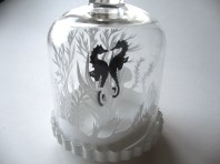 Seahorses in bell jar