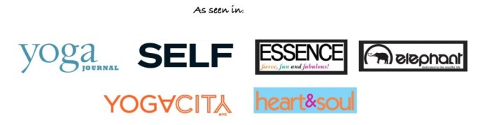 logos of websites that featured Spiritual Teacher Kala (Viv Williams)