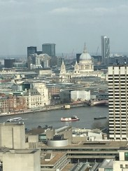 St. Paul's Cathedral in the distance.