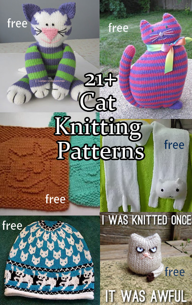 free cat cushion cover to knit # 12