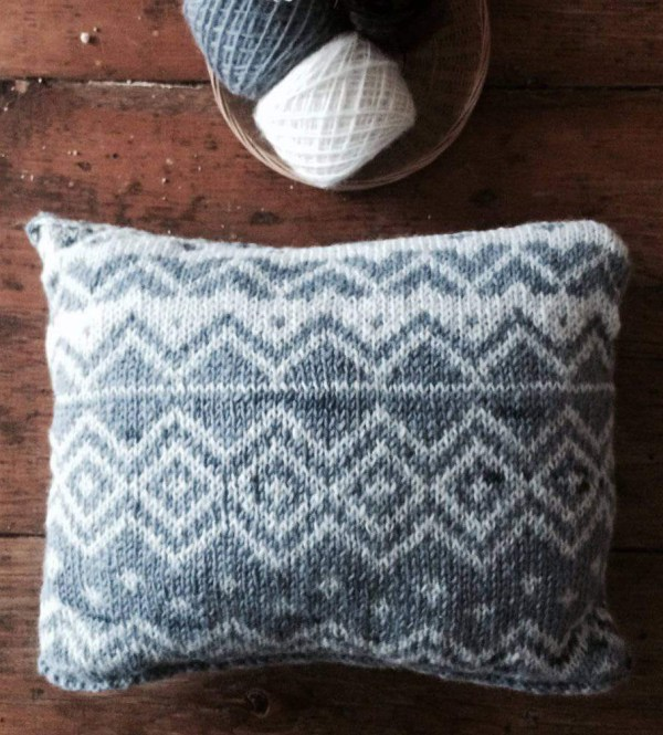 free cat cushion cover to knit # 35