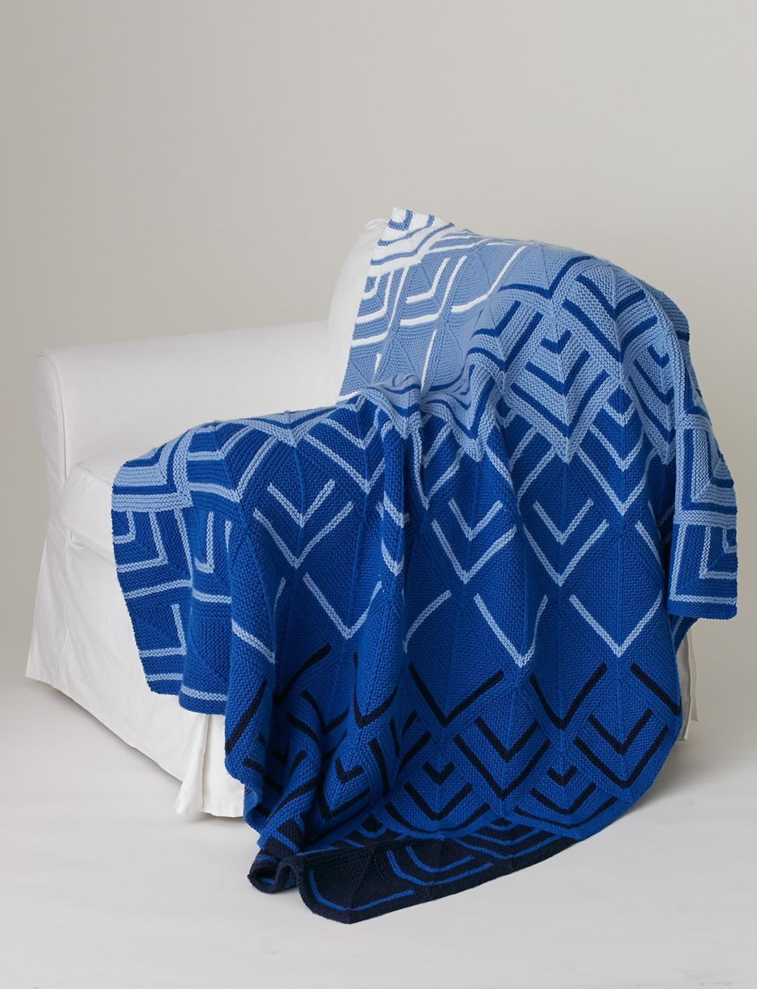 Bold Geometric Afghan Knitting Patterns