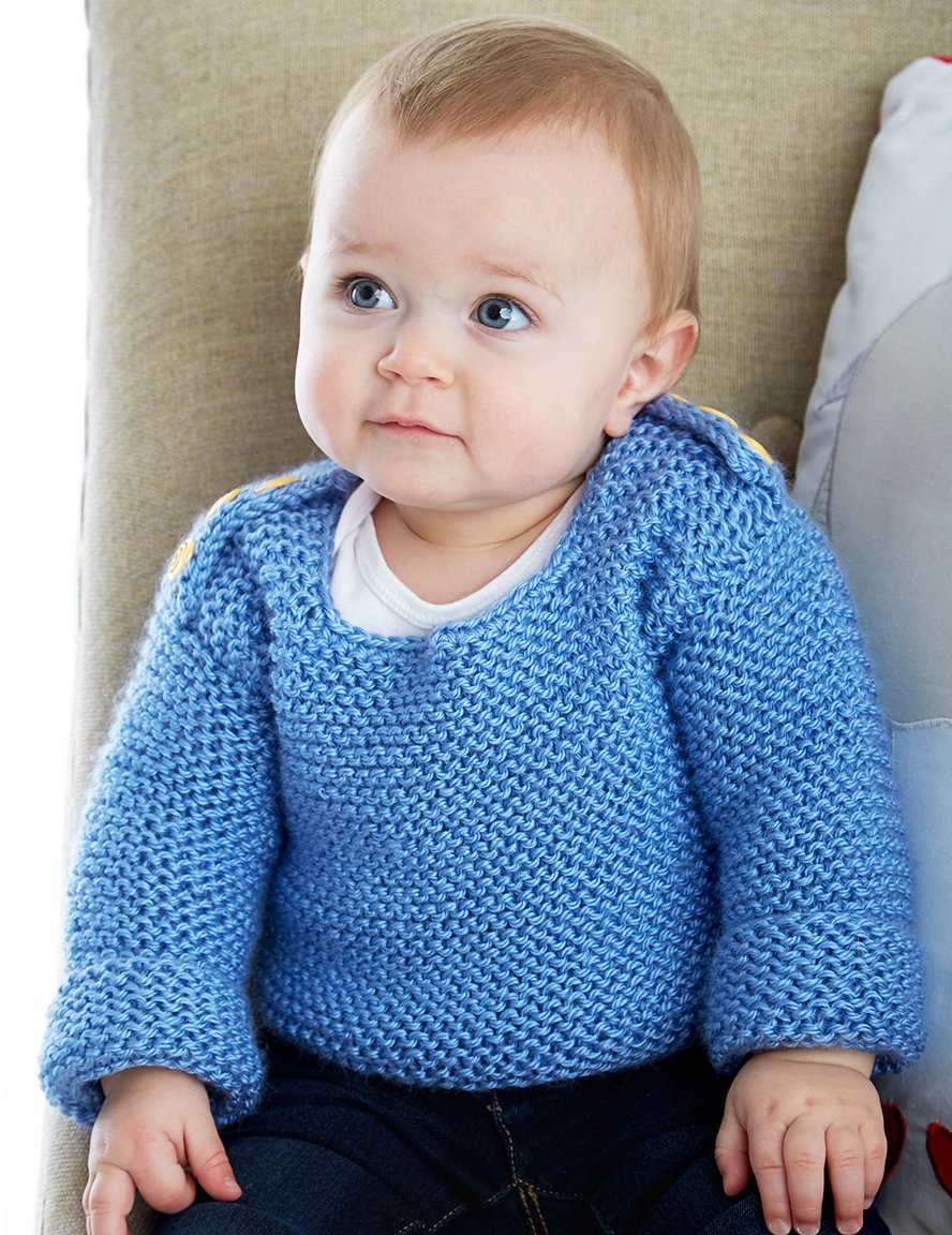 Knit Pattern Top Down Sweaters For Toddlers