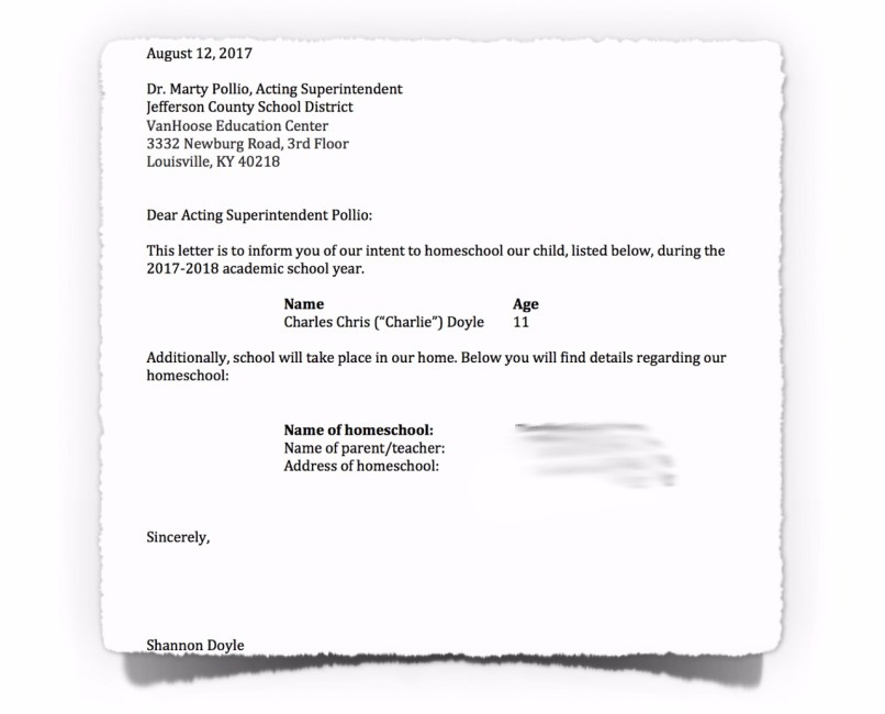 Letter Of Intent For Homeschooling Aderichie Co