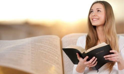 woman reading God's Word
