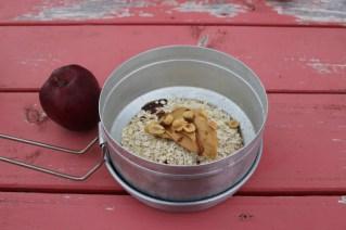 Haferflocken mit Erdnussbutter und selbstgemachtem Dandalinesirup