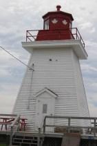 Patriotischer Leuchtturm am Neils Harbour