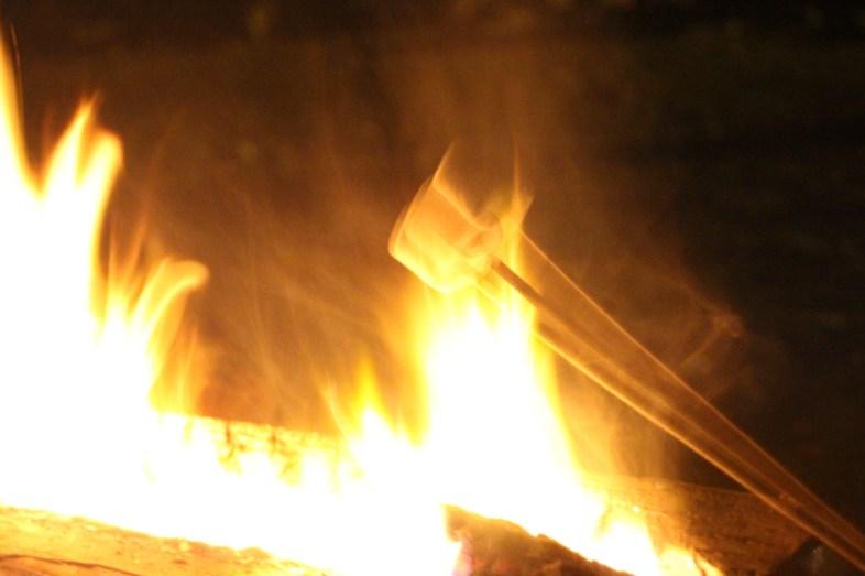 Marshmallow am Feuer
