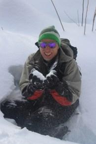 Côte de Salzbourg – Martin beim Schnee pusten
