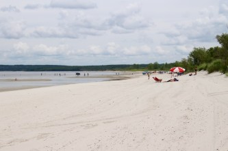 Feiner Sandstrand an der Grand Beach
