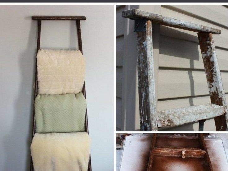 antique blanket rack ladder