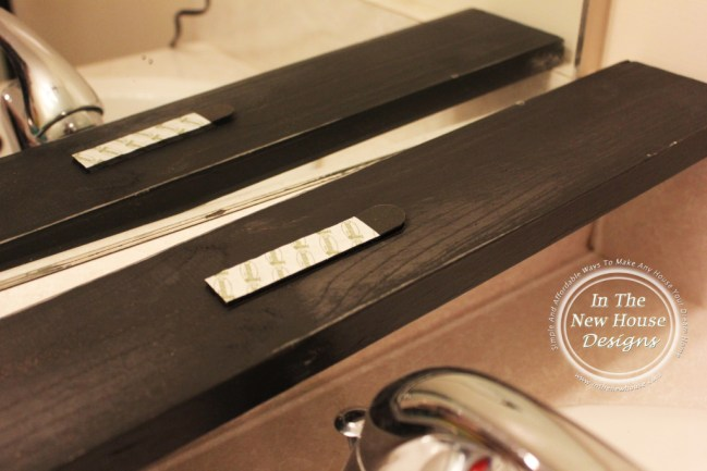 Velcro Strips on Mirror frame