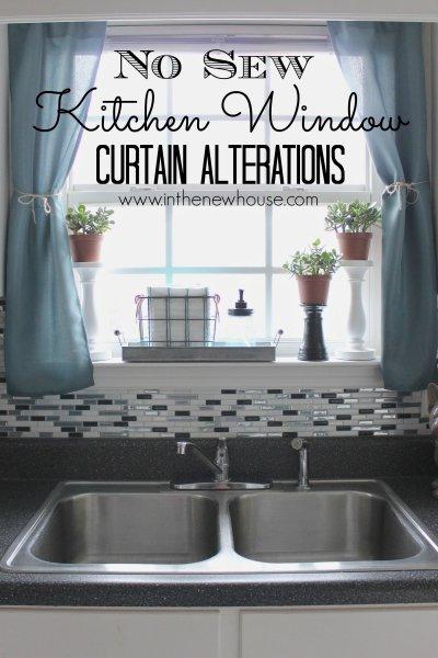 No-Sew Window Curtain Alterations