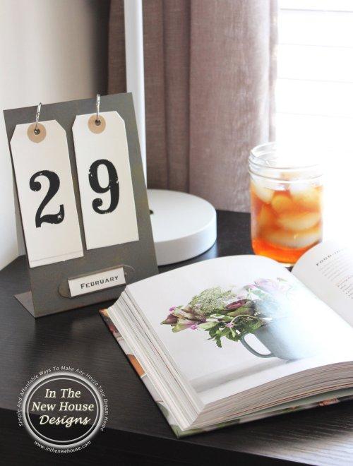 Industrial Perpetual Desk Calendar