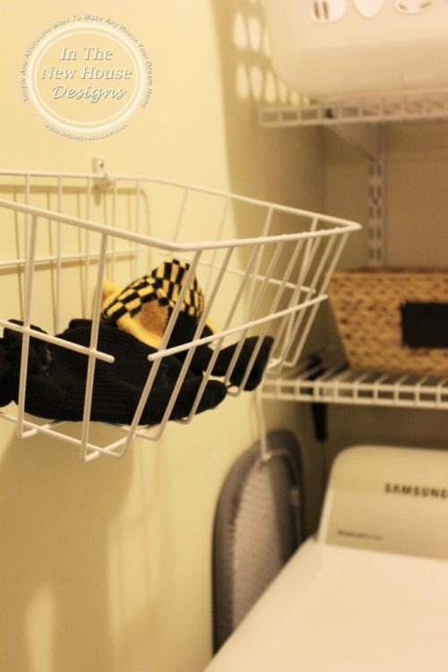 Missing sock basket for laundry closet