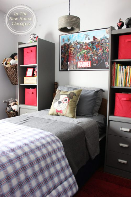 Red and Gray Big Boy Room