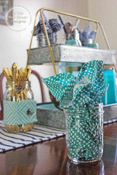 Shades of Blue, Gold, and Mason Jars